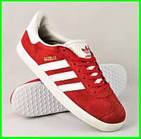 Кроссовки Adidas Gazelle Красные Мужские Адидас (размеры: 41,42,43,44,45) Видео Обзор, фото 1
