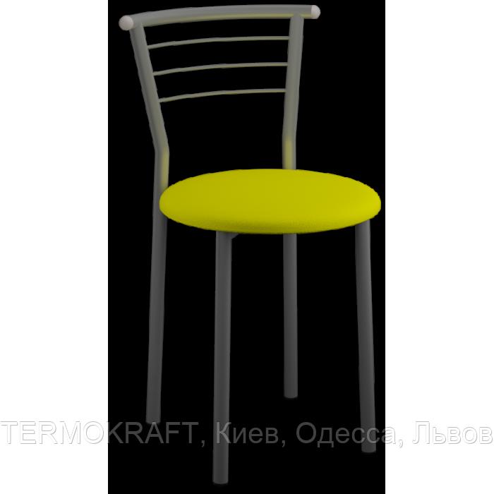 Стул  Marco Alum кожзам желтый для кухни, бара, летней площадки