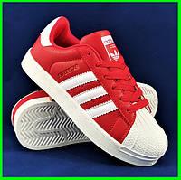 Кроссовки Adidas Superstar Красные Адидас Суперстар Женские Адидас (размеры: 36,37,38,39,40,41) Видео Обзор, фото 1
