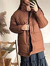 Куртка на кнопках утепленная песочная, фото 2