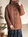 Куртка на кнопках утепленная песочная, фото 4