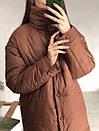 Куртка на кнопках утепленная песочная, фото 5