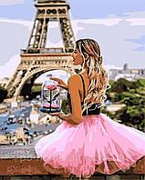 Раскраски по номерам С розой в Париже  