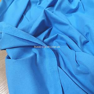 Ткань кулир стрейч ярко-голубой