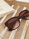 Очки солнцезащитные матовые квадратные ROMASHKA коричневые, фото 2