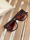 Очки солнцезащитные матовые квадратные ROMASHKA коричневые, фото 3