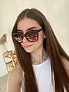 Очки солнцезащитные матовые квадратные ROMASHKA коричневые, фото 4