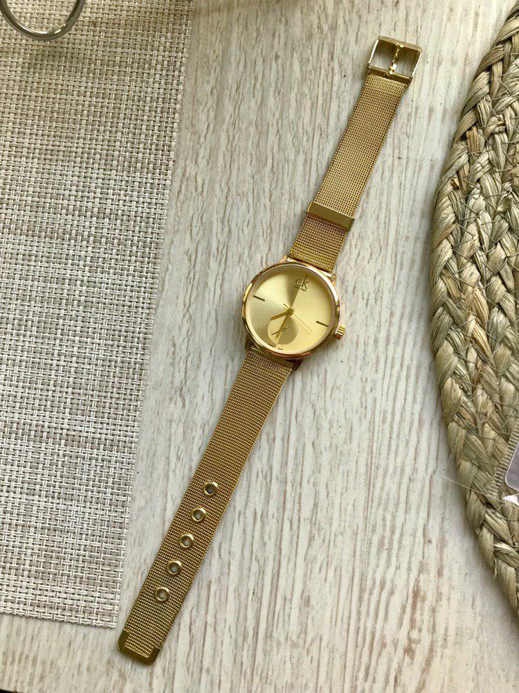 Часы Calvin Klein золотые