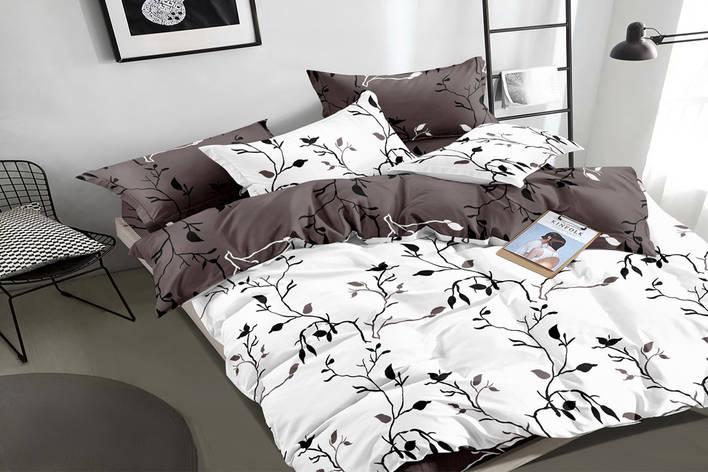 Двуспальный комплект постельного белья евро 200*220 сатин (16176) TM КРИСПОЛ Украина, фото 2