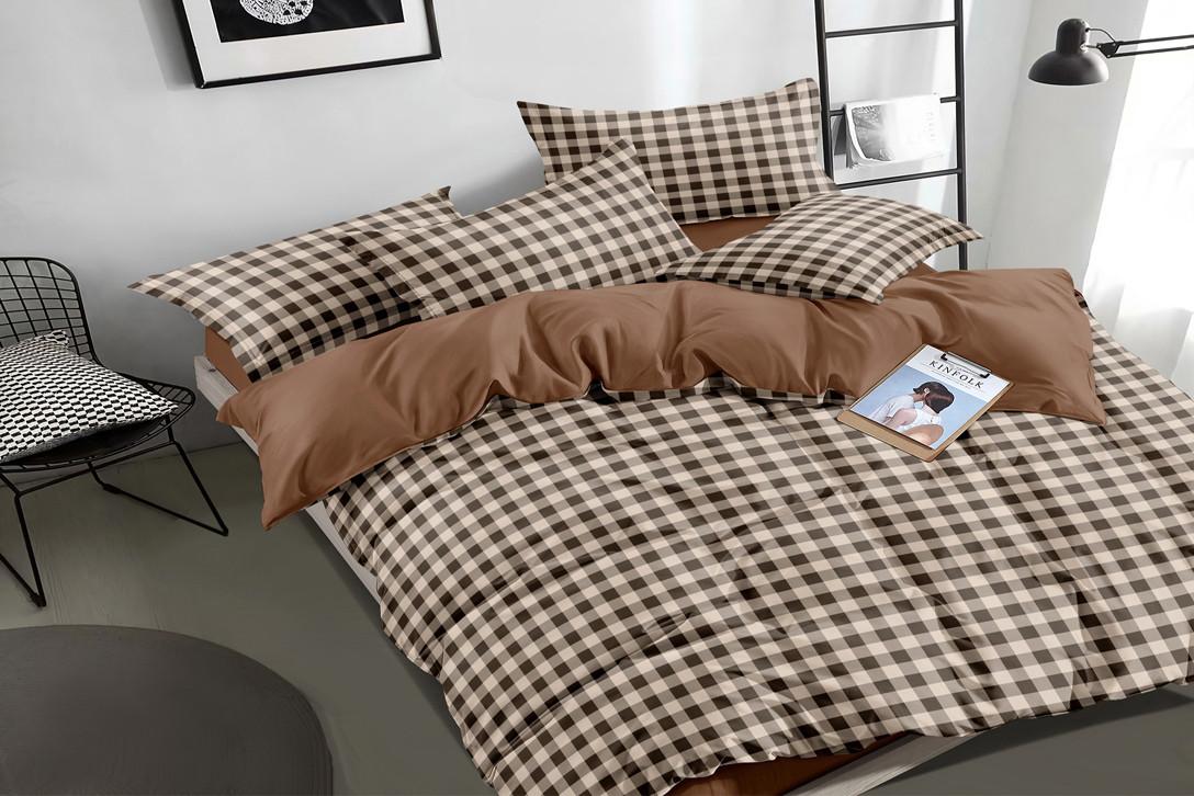 Двуспальный комплект постельного белья евро 200*220 сатин (16177) TM КРИСПОЛ Украина