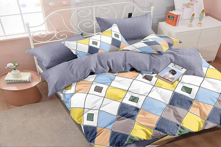 Двуспальный комплект постельного белья евро 200*220 сатин (16184) TM КРИСПОЛ Украина, фото 2