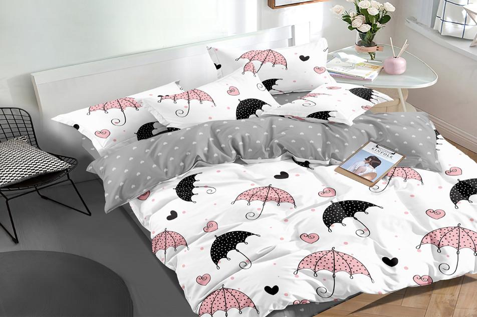 Семейный комплект постельного белья сатин (16185) TM КРИСПОЛ Украина