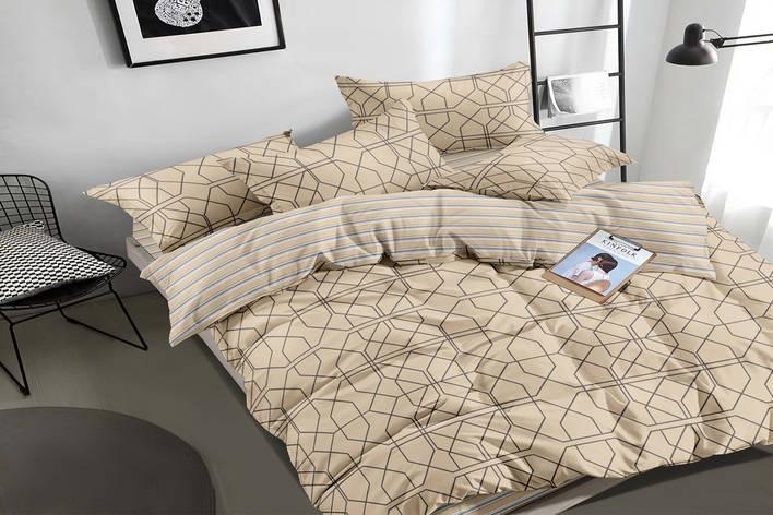 Семейный комплект постельного белья сатин (16197) TM КРИСПОЛ Украина, фото 2