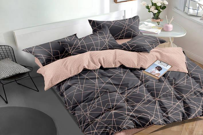 Двуспальный комплект постельного белья 180*220 сатин (16155) TM КРИСПОЛ Украина, фото 2