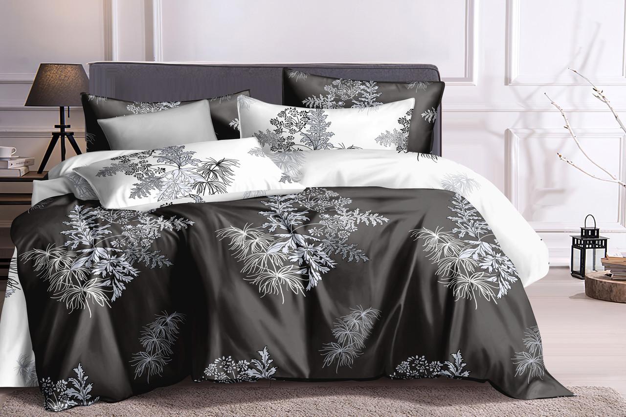 Двуспальный комплект постельного белья 180*220 сатин (16160) TM КРИСПОЛ Украина