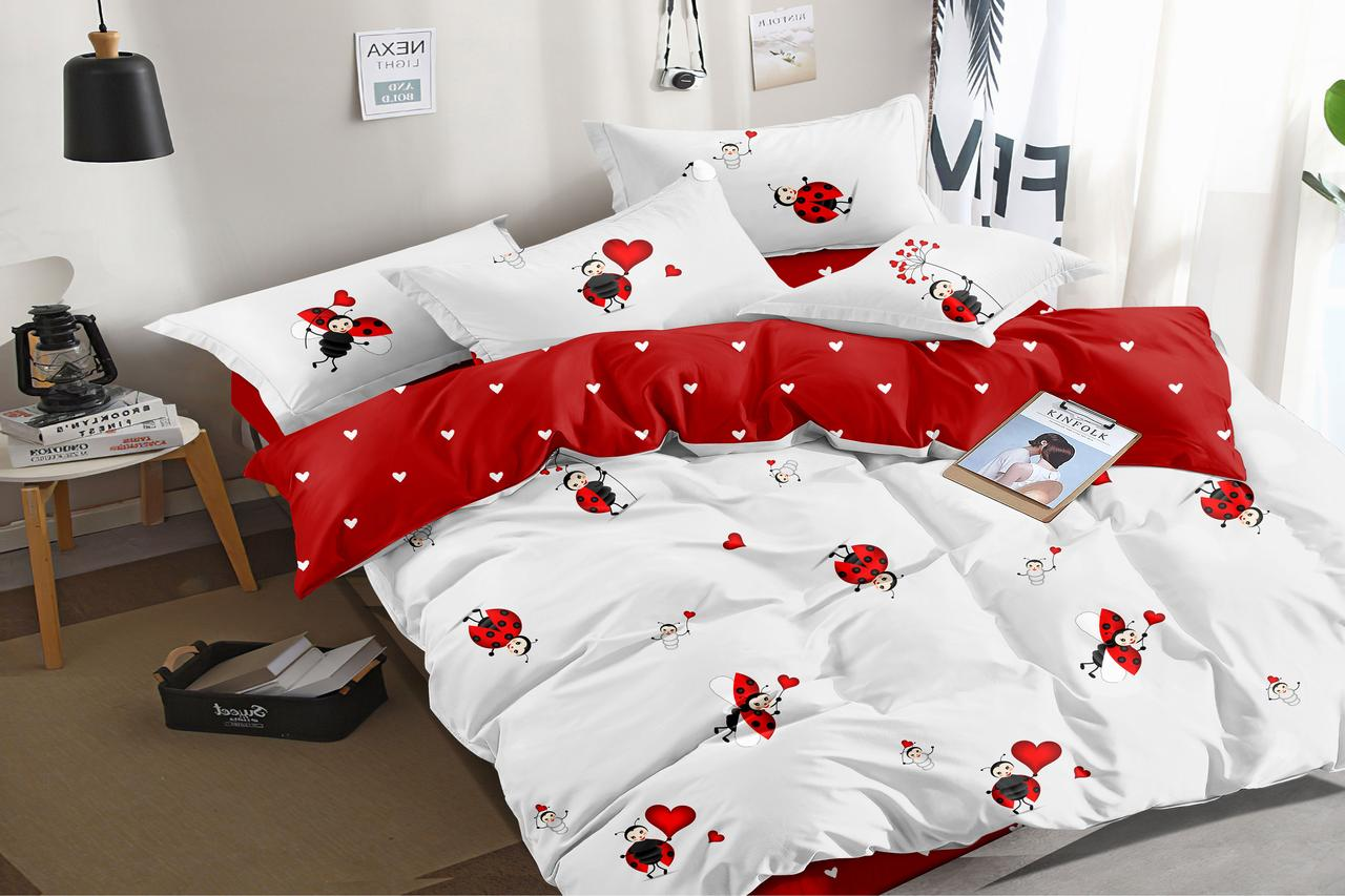 Двуспальный комплект постельного белья 180*220 сатин (16165) TM КРИСПОЛ Украина