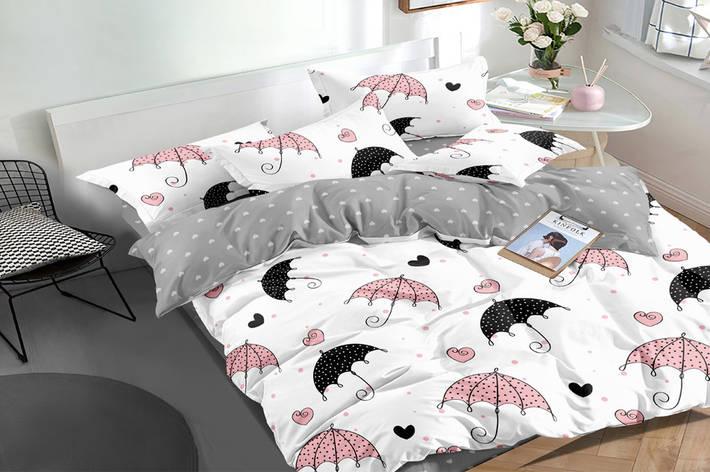 Полуторный комплект постельного белья 150*220 сатин (16131) TM КРИСПОЛ Украина, фото 2