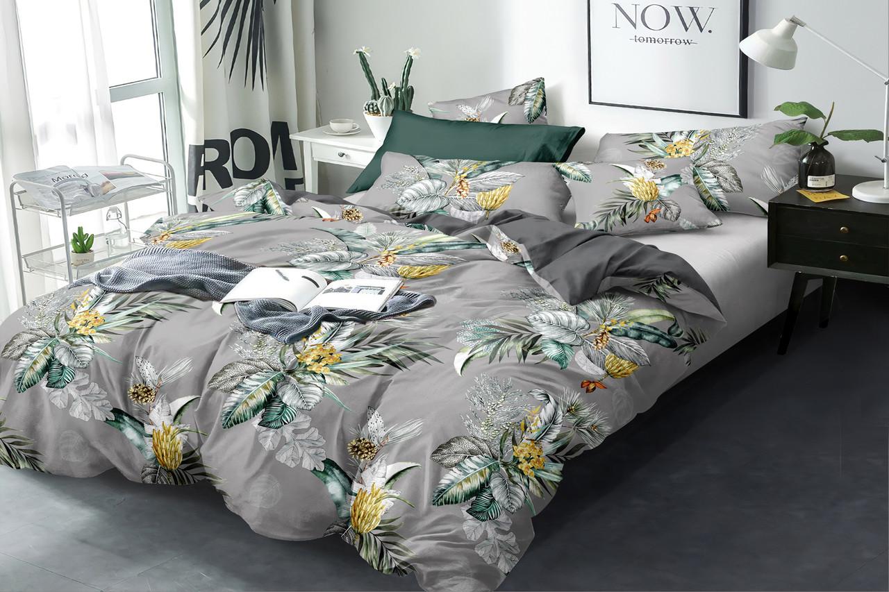 Двуспальный комплект постельного белья евро 200*220 сатин (16169) TM КРИСПОЛ Украина