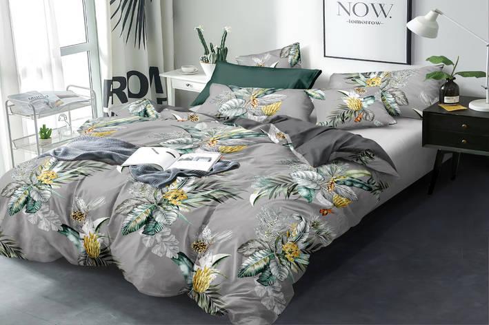 Двуспальный комплект постельного белья евро 200*220 сатин (16169) TM КРИСПОЛ Украина, фото 2