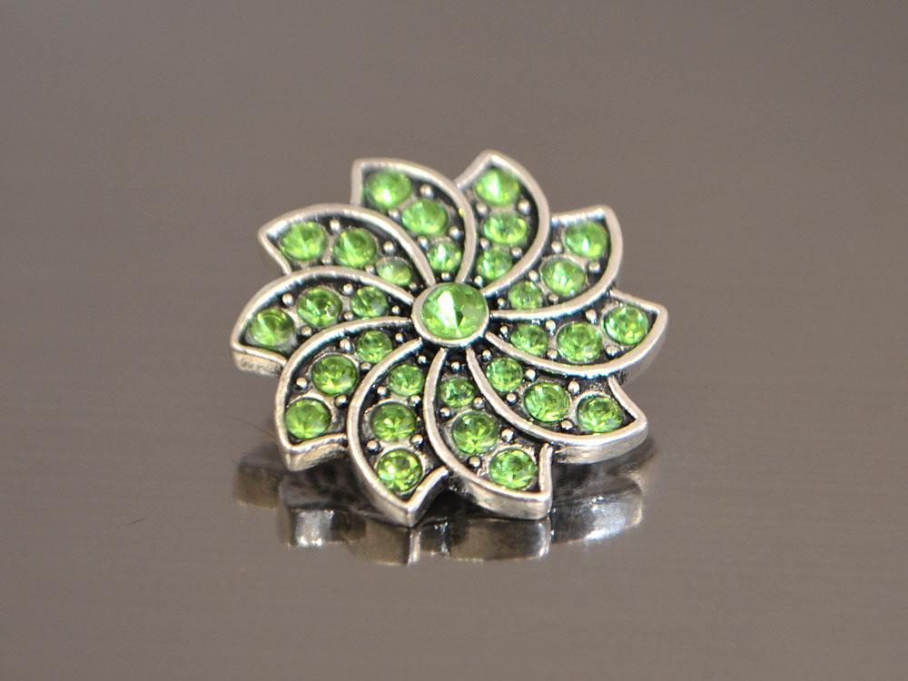 Кнопка Noosa Витой Цветок, салатовый #59