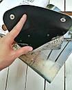 Поясная сумка-конвертик со змеиным принтом черная, фото 2