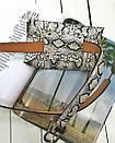 Поясная сумка-конвертик со змеиным принтом черная, фото 5