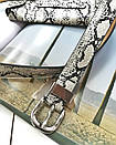 Поясная сумка-конвертик со змеиным принтом черная, фото 6