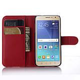 Чехол-книжка Bookmark для Samsung Galaxy J7 2015/J700 red, фото 4