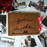 Деревянный альбом для фотографий | оригинальный фотоальбом на подарок