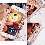 Чехол-накладка TPU Luxury Bear rose gold для Xiaomi Redmi Note 4, фото 7