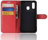Чехол-книжка Bookmark для Samsung Galaxy A40 red, фото 4