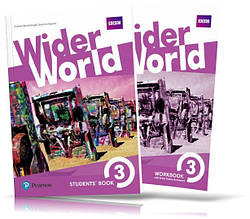 Wider World 3, Student's book + Workbook / Учебник + Тетрадь английского языка