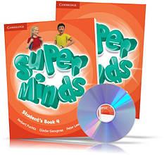 Super Minds 4, student's + Workbook + DVD / Підручник + Зошит (комплект з диском) англійської мови