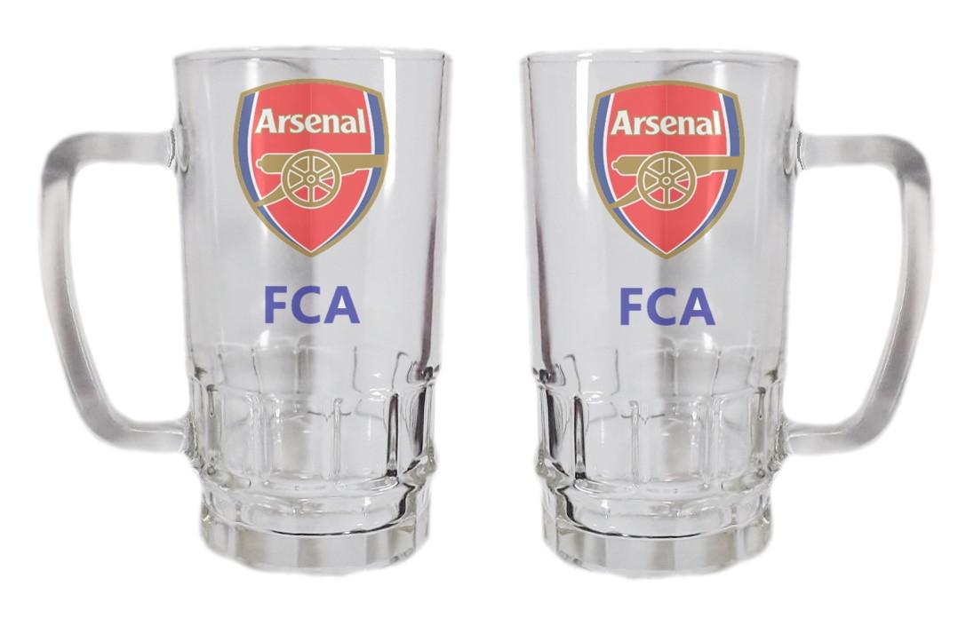 Бокал для пива стеклянный ФК Арсенал