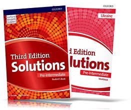 Solutions Pre-Intermediate, student's book + Workbook / Підручник + Зошит англійської мови