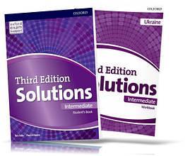 Solutions Intermediate, student's book + Workbook / Підручник + Зошит англійської мови