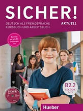 Sicher B2.2, Kursbuch + Arbeitsbuch + CD / Учебник + тетрадь (7-12) немецкого языка