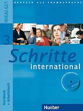 Schritte International 3, Kursbuch + Arbeitsbuch + CD / Підручник + зошит з диском німецької мови