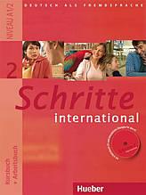 Schritte International 2, Kursbuch + Arbeitsbuch + CD / Підручник + зошит з диском німецької мови