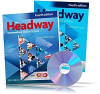 New Headway Intermediate, Student's book + Workbook + CD / Учебник + Тетрадь английского языка
