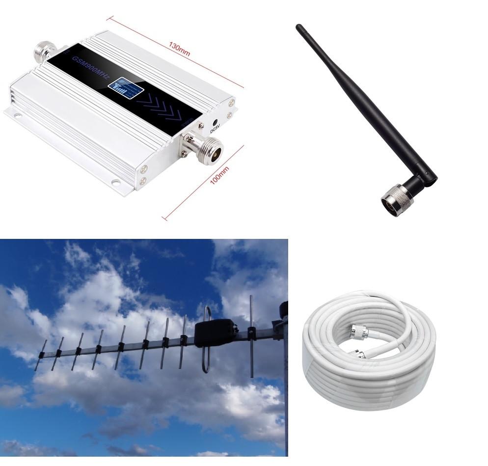 Репітер підсилювач GSM, 4G LTE 900 МГц (посилений комплект)