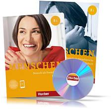 Menschen B1, Kursbuch + Arbeitsbuch / Учебник + Тетрадь (комплект с дисками) немецкого языка