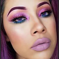 Фиолетовые необычные цветные контактные линзы. Бокс в подарок!