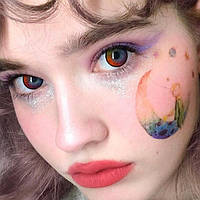 Радужные цветные линзы для глаз. Бокс в подарок!