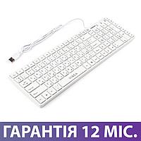 Клавиатура для компьютера Vinga KB820, белая, USB, проводная