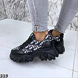 Кроссовки женские черные 329, фото 2