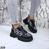 Кроссовки женские черные 329, фото 3