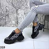 Кроссовки женские черные 329, фото 4