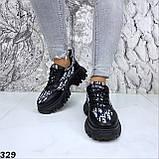 Кроссовки женские черные 329, фото 5