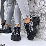 Кроссовки женские черные 329, фото 6